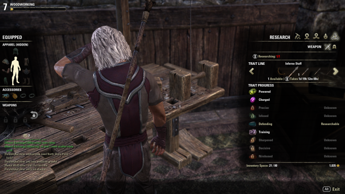 eso one tamriel crafting