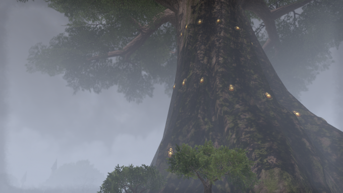 A screenshot of the city of Elden Root in Elder Scrolls Online