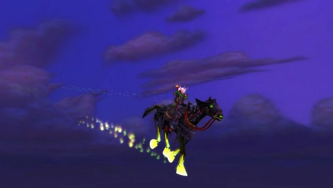 The Headless Horseman's mount from World of Warcraft's Hallow's End event.