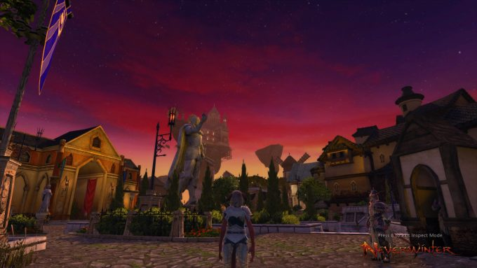 Protector's Enclave during the Summer Festival event in Neverwinter
