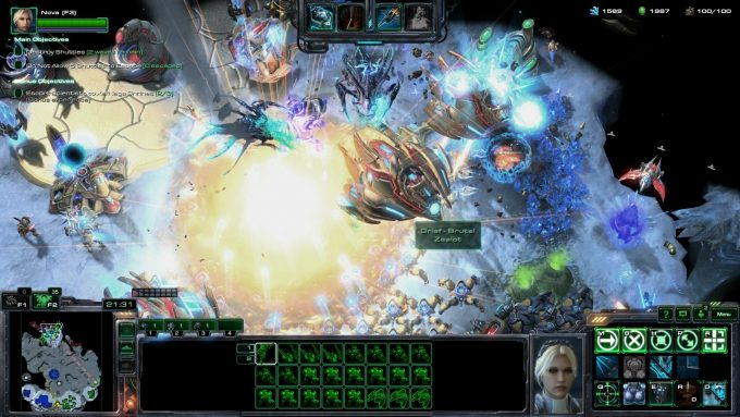 Nova nukes the enemy in StarCraft II's co-op