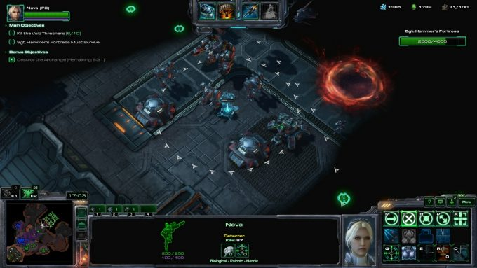 Nova's Sabotage Drone ability in StarCraft II's co-op