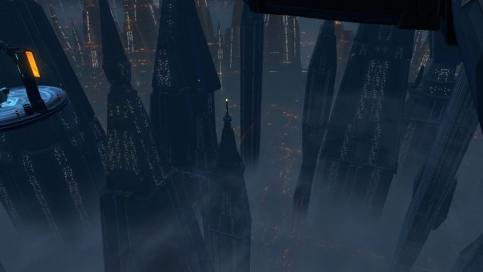 A screenshot of Zakuul's Spire in Star Wars: The Old Republic