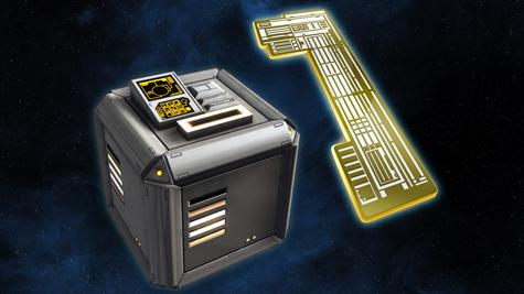 An advertisement for a lockbox in Star Trek: Online