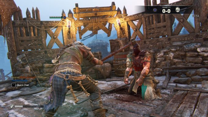 Executing an opponent in the For Honor beta