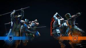 Two teams zone into a match in the For Honor beta
