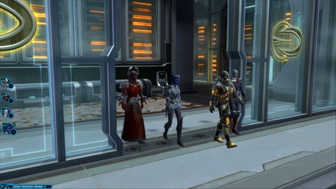 A flashpoint group in Star Wars: The Old Republic