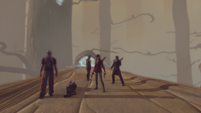 "A group facing the ""Hatekeeper"" boss in The Secret World"