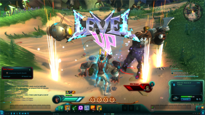 Leveling up in the themepark MMORPG WildStar