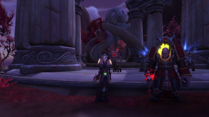 A pair of characters in World of Warcraft