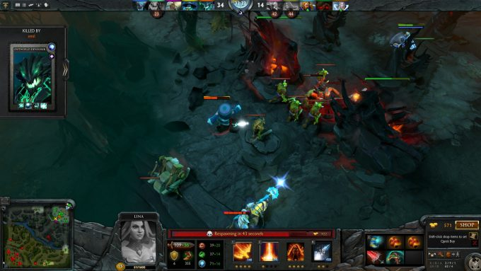 A less than successful battle in DOTA 2