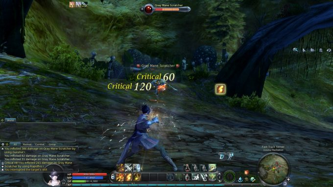Fighting mobs as a gunslinger in Aion