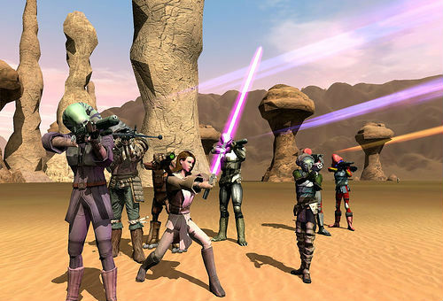 A shot from Star Wars Galaxies