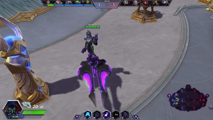 Tracer's Spectre skin in Heroes of the Storm