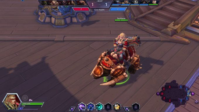 The Thunder-Guard Zarya skin in Heroes of the Storm