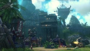 An enemy encampment in Blade and Soul