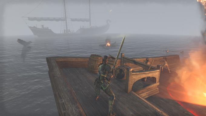 A battle on the sea in Elder Scrolls Online