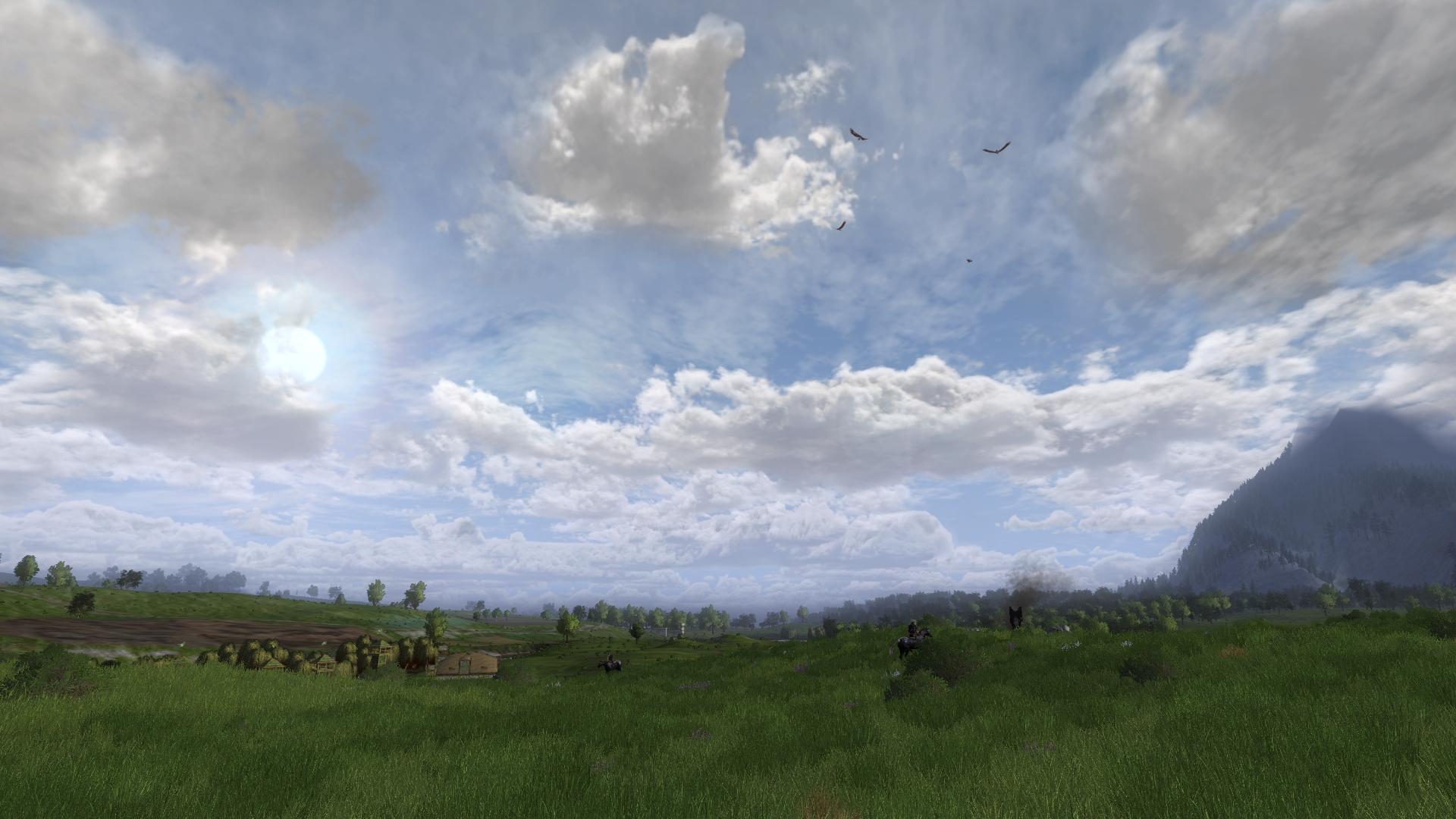 LOTRO screenshot of Rohirric sky