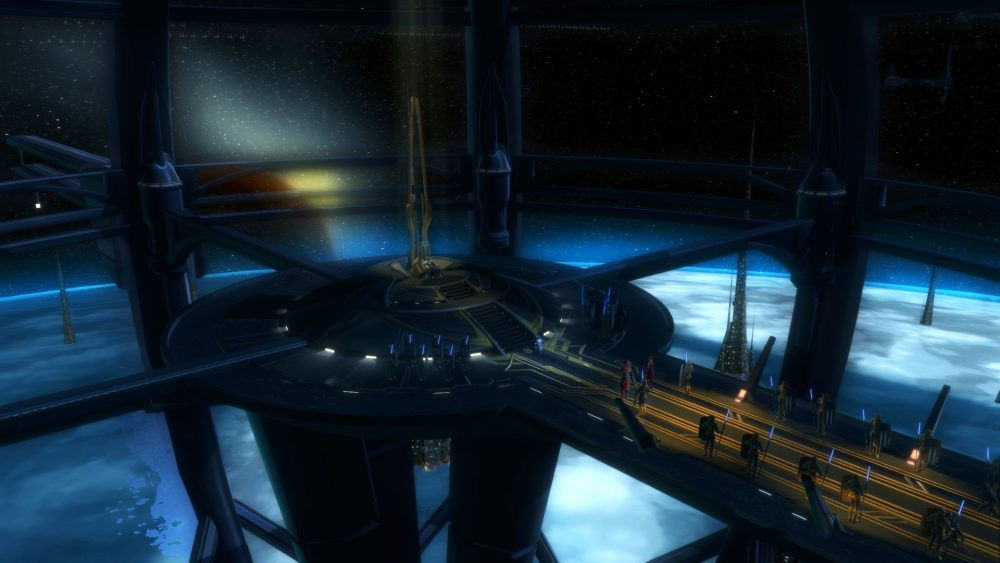 Screenshot of the Eternal Throne of Zakuul in SWTOR