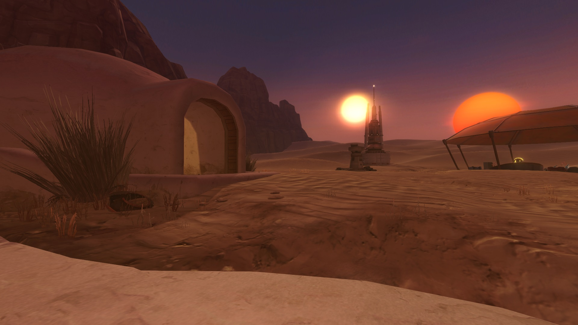 Screenshot from SWTOR's desert