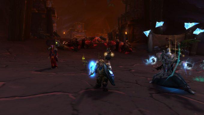 A Dwarf warrior tanks a dungeon in World of Warcraft