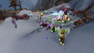 A world boss battle in World of Warcraft