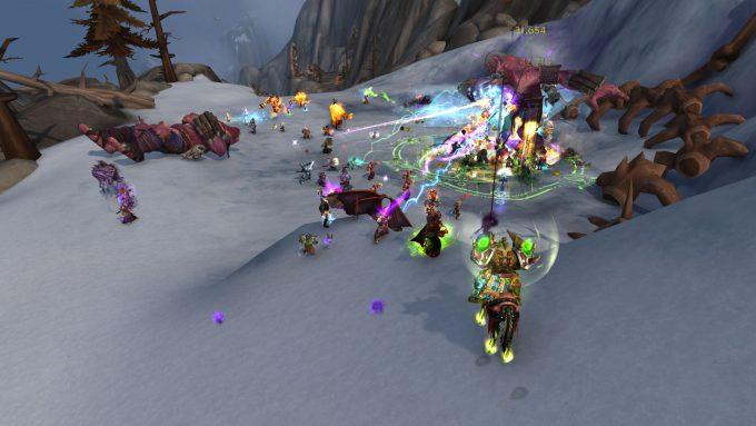 A world boss battle in World of Warcraft