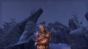 A Dark Elf templar in Elder Scrolls Online