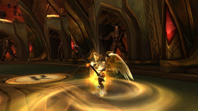 A dungeon encounter in World of Warcraft