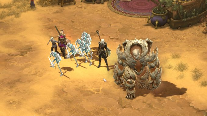 A necromancer character in Diablo III, a game where leveling never ends