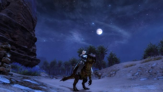 A raptor mount in Guild Wars 2: Path of Fire