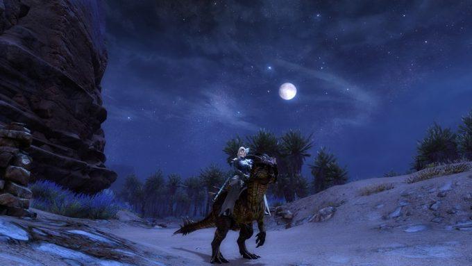 A raptor mount in Guild Wars 2: Path of Fire