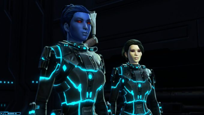 SWTOR is a good MMORPG for cosmetic progression