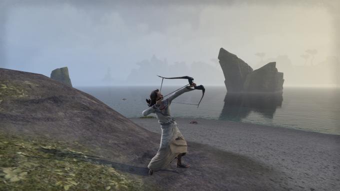 A bow-wielding character in Elder Scrolls Online