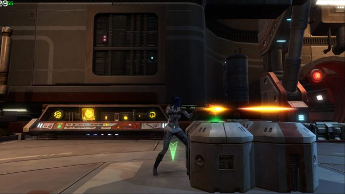 Combat as an Imperial agent character in Star Wars: The Old Republic