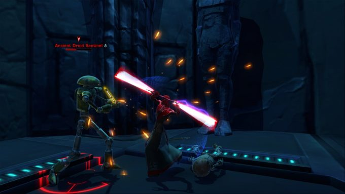 Doing battle as a Sith inquisitor in Star Wars: The Old Republic