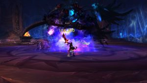 A boss fight in World of Warcraft