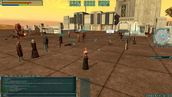 A group of players in Star Wars Galaxies