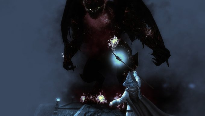 A cutscene from Lord of the Rings Online