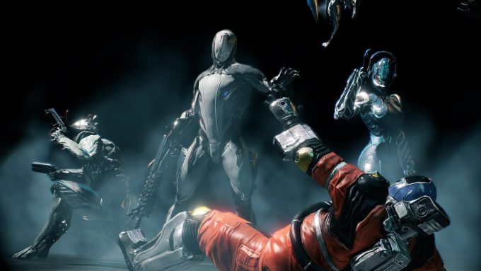 A promotional image for the MMOFPS Warframe