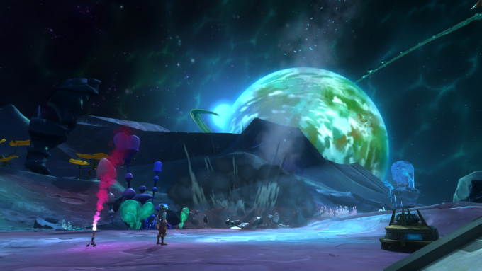 A space scene in WildStar