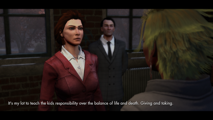 A story cutscene in The Secret World