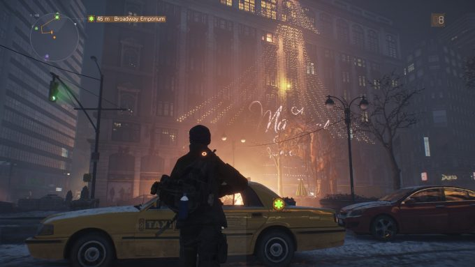A department store by night in the MMO shooter The Division