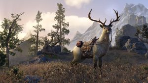 Elk mount in the Elder Scrolls Online (ESO) (Source: ESO promotional image)