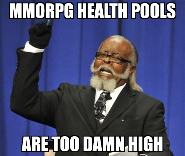 mmorpg health pools meme