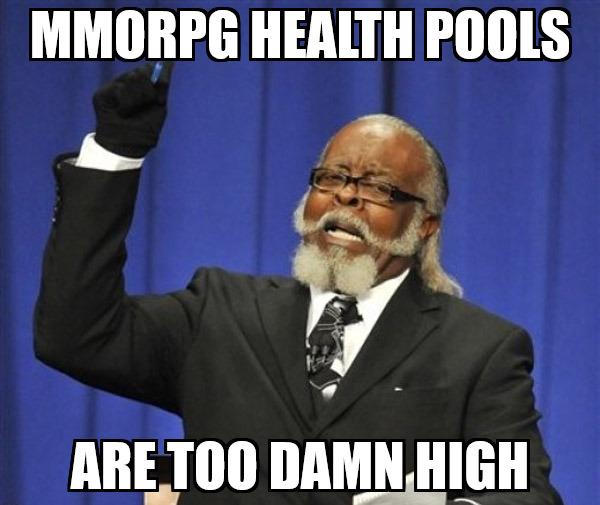 mmorpg health pools meme