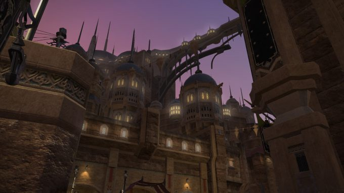 A desert city in the subscription MMORPG Final Fantasy XIV