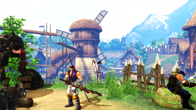 A town in the action combat MMORPG Kritika Online