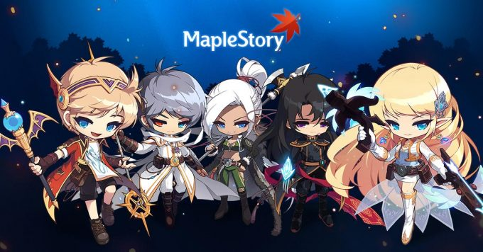 A promotional image for the import MMORPG MapleStory