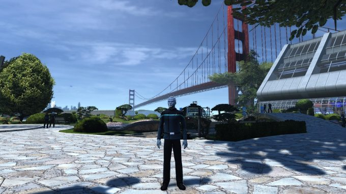 An Andorian captain in Star Trek Online